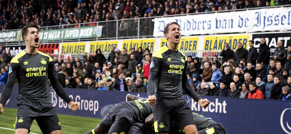 Titelfavoriet PSVontsnapt in slotfase bij alleraardigst PEC Zwolle