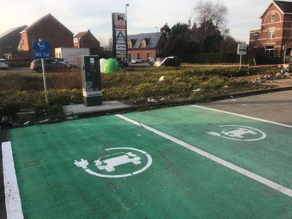 Oplaadpunt voor elektrische wagens in Holsbeek.