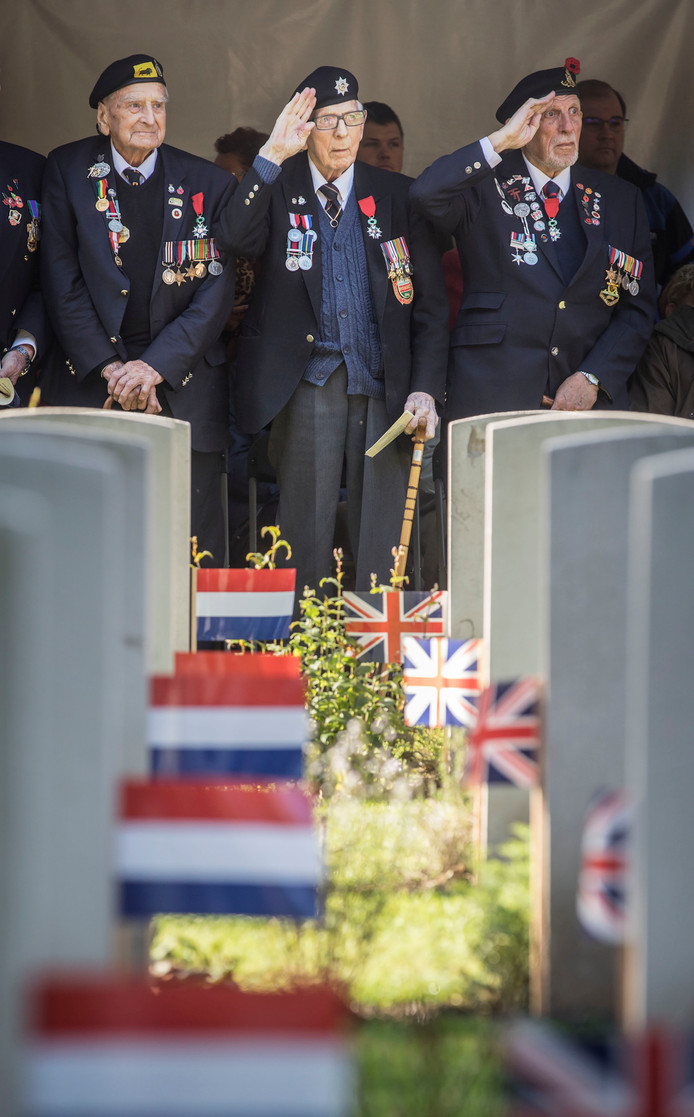 Engelse oorlogsveteranen elk jaar met herdenking van for Engelse tuin 1 waalre