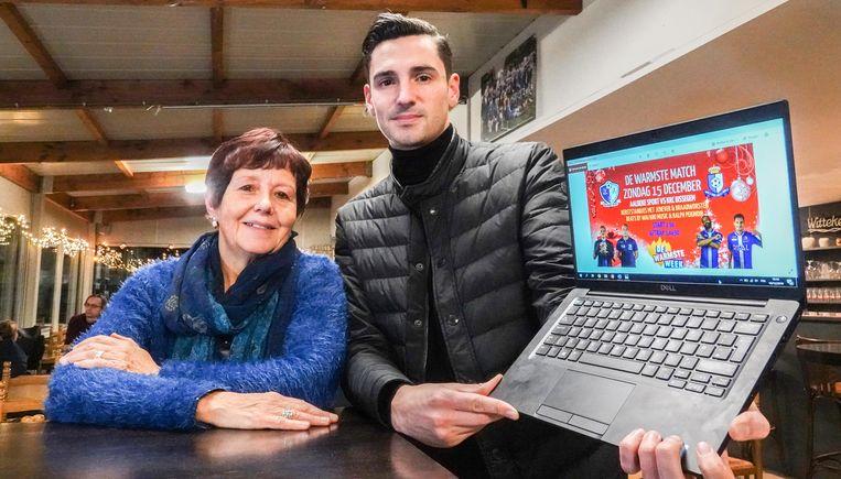 Mia Messely, voorzitster van KFC Aalbeke Sport, en Gaël Agneray
