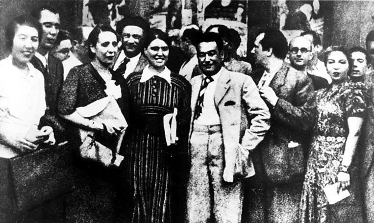 Juli 1937: het antifascistische schrijverscongres in Madrid.  Beeld Ullstein Bild via Getty Images