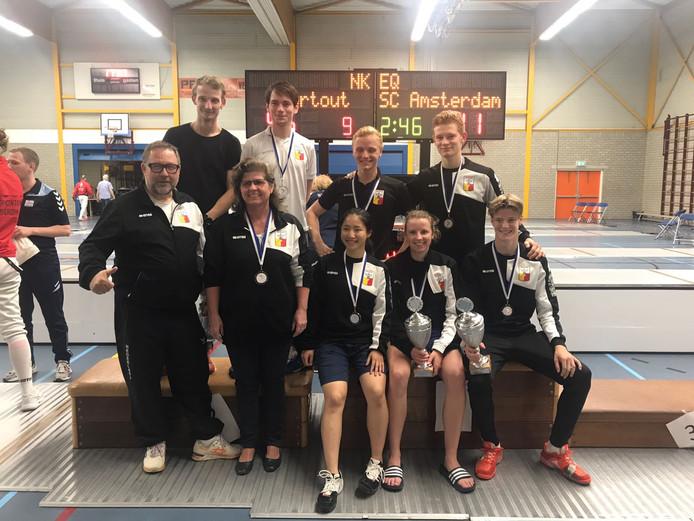 Bij het NK schermen voor clubs pakten de mannen van Surtout in 2017 voor de tiende keer op rij de titel. De vrouwen werden voor de vijfde keer op rij de beste van Nederland.