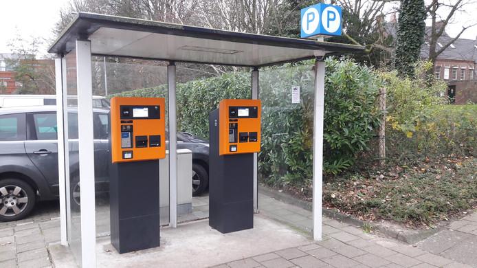 De parkeerautomaten aan de Taxandriaweg.