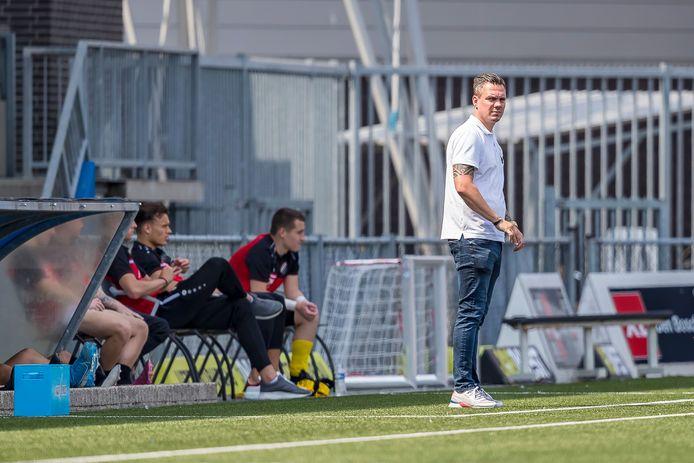 Niels Blom tijdens de oefenwedstrijd FC den Bosch – NIVO Sparta