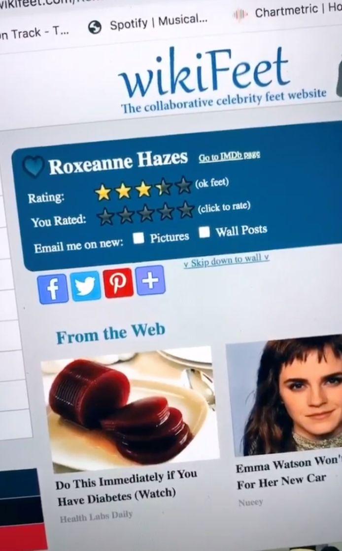 Roxeanne Hazes op WikiFeet.