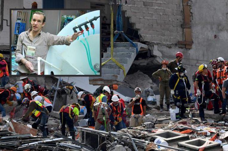 Marc Wehmeijer lag drie uur begraven onder een dikke laag puin na de aardbeving in zijn thuisstad Mexico-City.