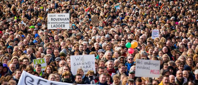 Het lerarenprotest op het Malieveld in Den Haag in maart dit jaar.