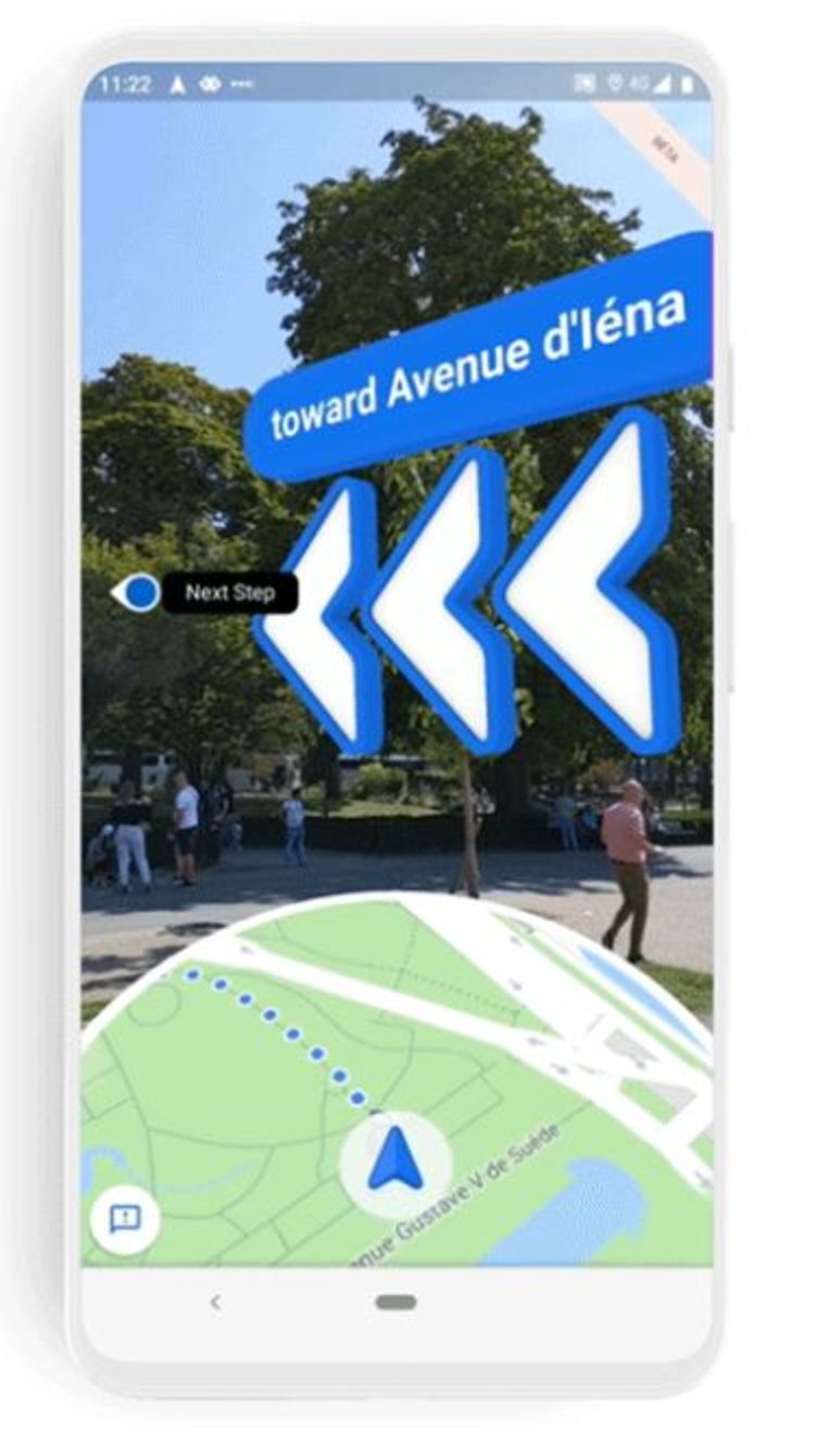 Live View in Google Maps Beeld Google