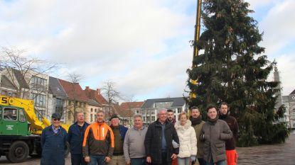 18,5 meter hoge kerstboom op Grote Markt Ronse