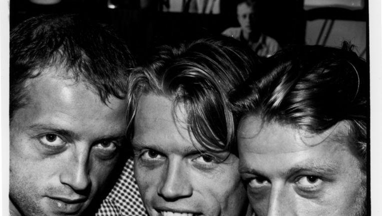 Van links naar rechts: Gijs, Aad en Justus Donker. Beeld Gerard Wessel