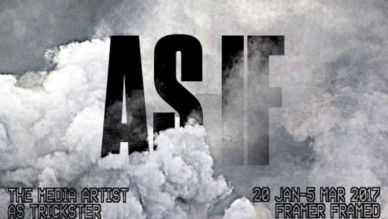 Poster van de tentoonstelling As If bij Framer Framed Beeld