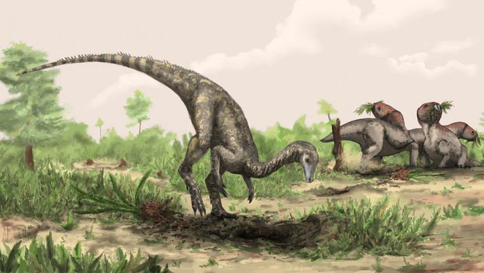 Een afbeelding van hoe de Nyasasaurus parringtoni eruit gezien zou kunnen hebben.