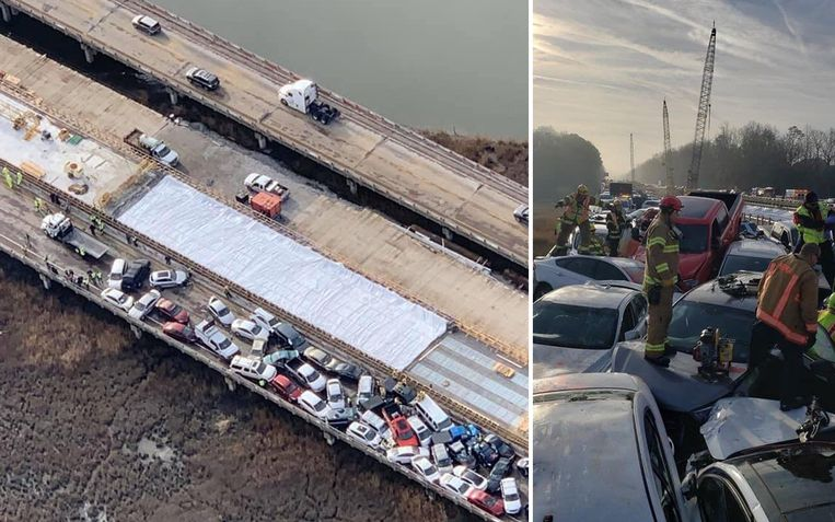 eddingswerkers moesten op daken van auto's klimmen om tot bij mensen in nood te geraken.