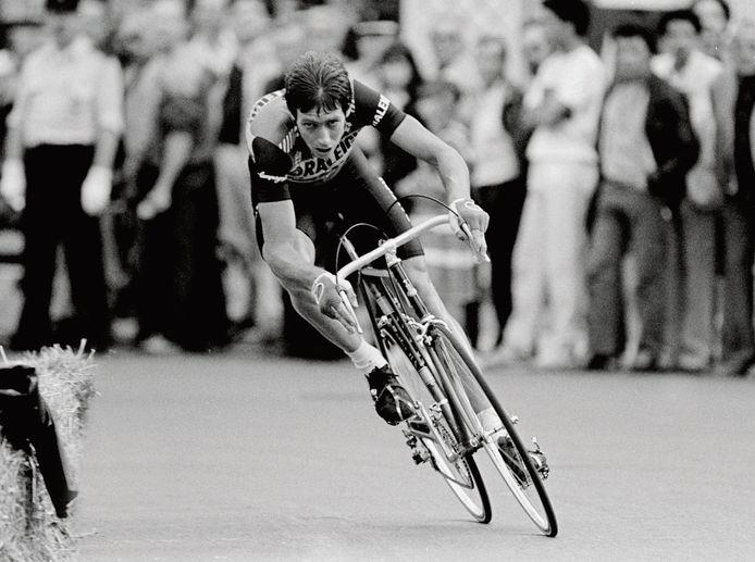 Johan van der Velde in het shirt van TI Raleigh in de Tour van 1983.