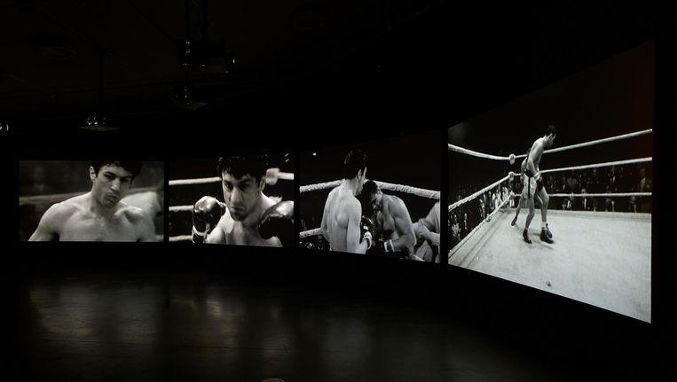 In Eye zijn naast beelden van Raging Bull ook de bokshandschoenen en de Everlastbroek te zien die Robert de Niro droeg in de film. Beeld Studio Hans Wilschut