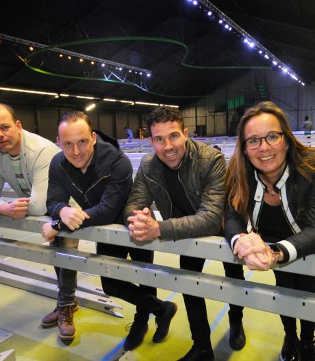 Opbouw trampolines in Street Jump Vlissingen begonnen