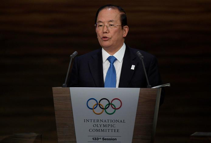 Voorzitter Toshiro Muto van het organisatiecomité van de Olympische Spelen in Tokio