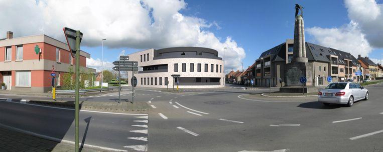 Centraal staat Residentie De Zwaan, met zicht op het Guynemermonument.