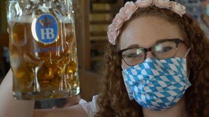 Zo ziet Oktoberfest eruit in tijden van corona: mondmasker en heel veel bier
