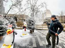 Papieren sneeuwvlokken, maar Cityplaza doet meteen winters aan