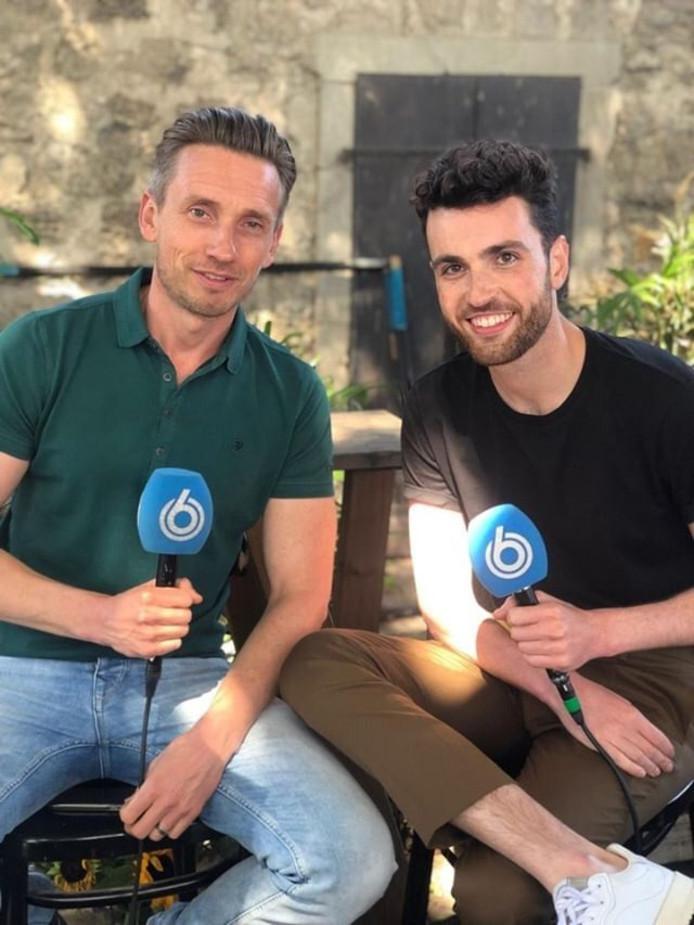 Koos van Plateringen in Israël met Duncan Laurence, de Nederlandse winnaar van het Songfestival 2019.