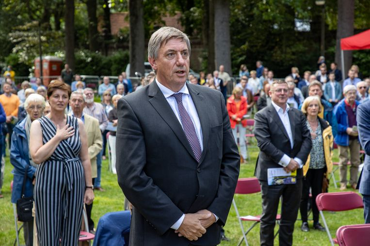 Vlaams minister-president Jan Jambon (N-VA) vrijdagavond,  op de traditionele 11 juli-viering in Kortrijk.