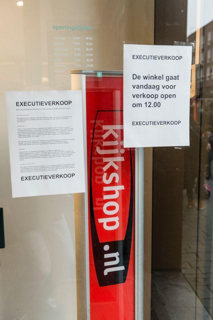 Kijkshop is een van de bedrijven die eerder dit jaar failliet ging. Het hoofdkantoor van deze winkel zat in Zaltbommel, maar het bedrijf opende voor het eerst haar deuren in Den Bosch.
