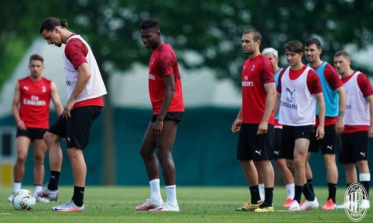 Ibrahimovic op training.