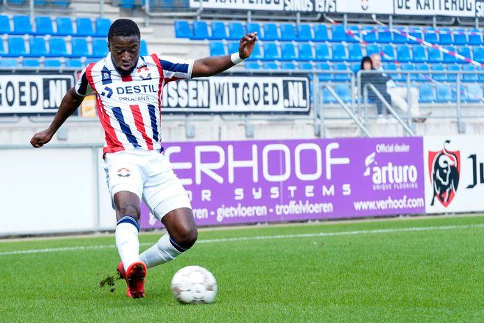 Leeroy Owusu maakt na de interland-break waarschijnlijk zijn rentree voor Willem II.