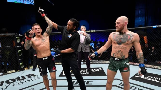 Geen geslaagde rentree: McGregor (technisch) knock-out geslagen door Poirier