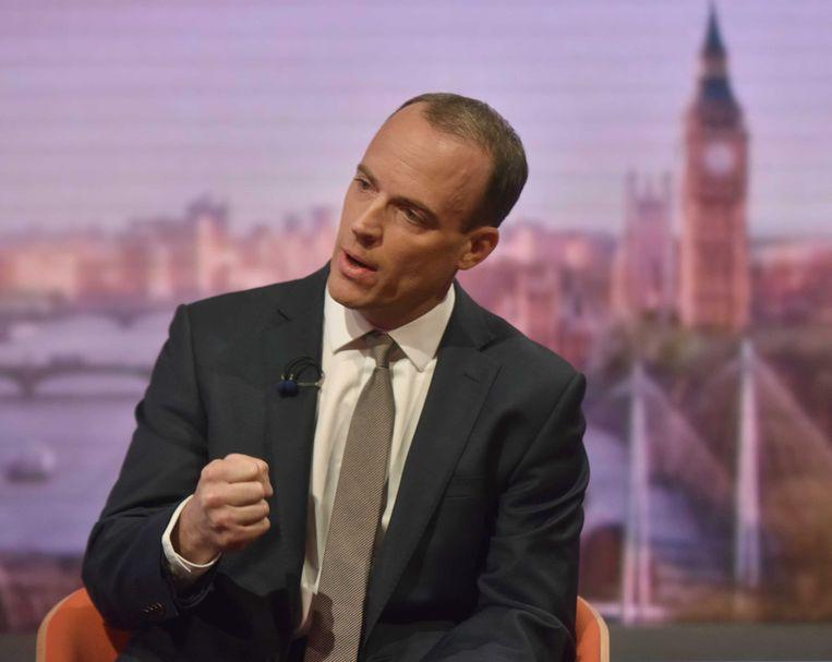 """Raab zegt in een interview met de BBC dat """"elke verantwoordelijke regering een plan moet klaar hebben voor het geval we geen akkoord bereiken""""."""