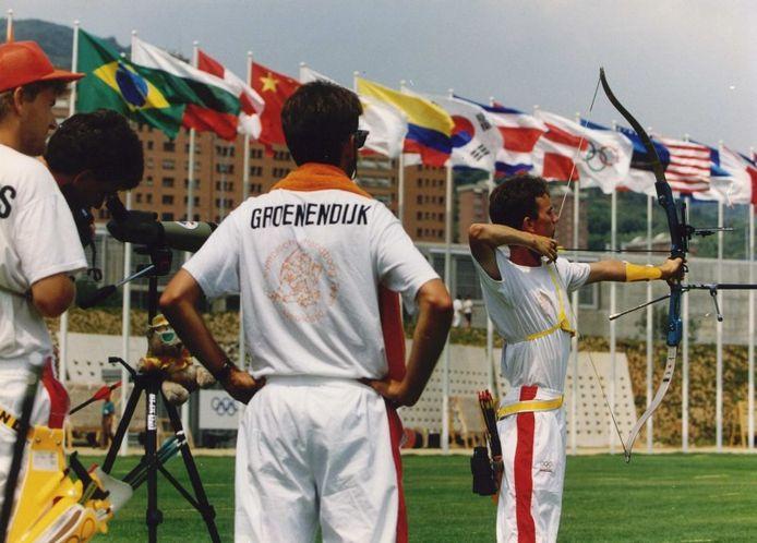 Erwin Verstegen (rechts) in actie tijdens de Olympische Spelen van 1992 in Barcelona.