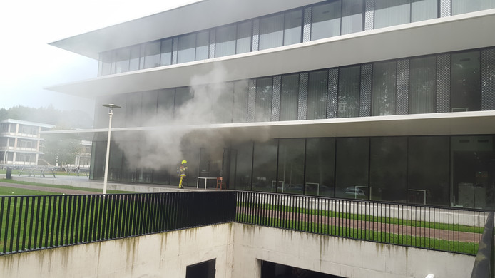 Dinsdagochtend brak er brand uit in het Grotiusgebouw van de Radboud Universiteit.