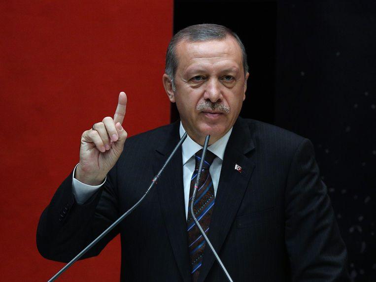 De Turkse premier Recep Tayyip Erdogan. Beeld ap