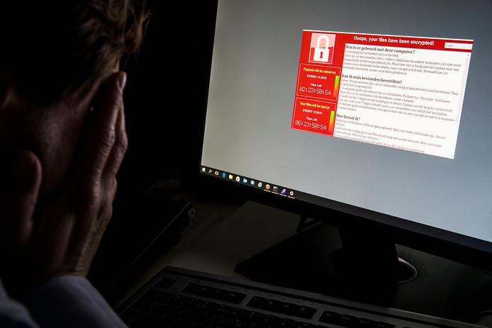 Gijzelsoftware als GandCrab blokkeert bestanden op de besmette computer