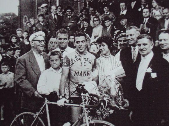 Willy 'Rupske' Lauwers was eind jaren 50 een van de populairste figuren in de Belgische wielersport.