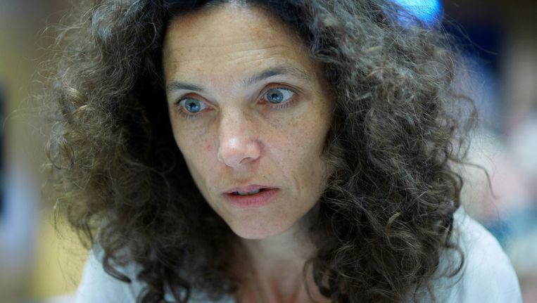 Regisseur Paula van der Oest tijdens de opnames van de film Lucia de B. in het Gerechtshof. Beeld anp