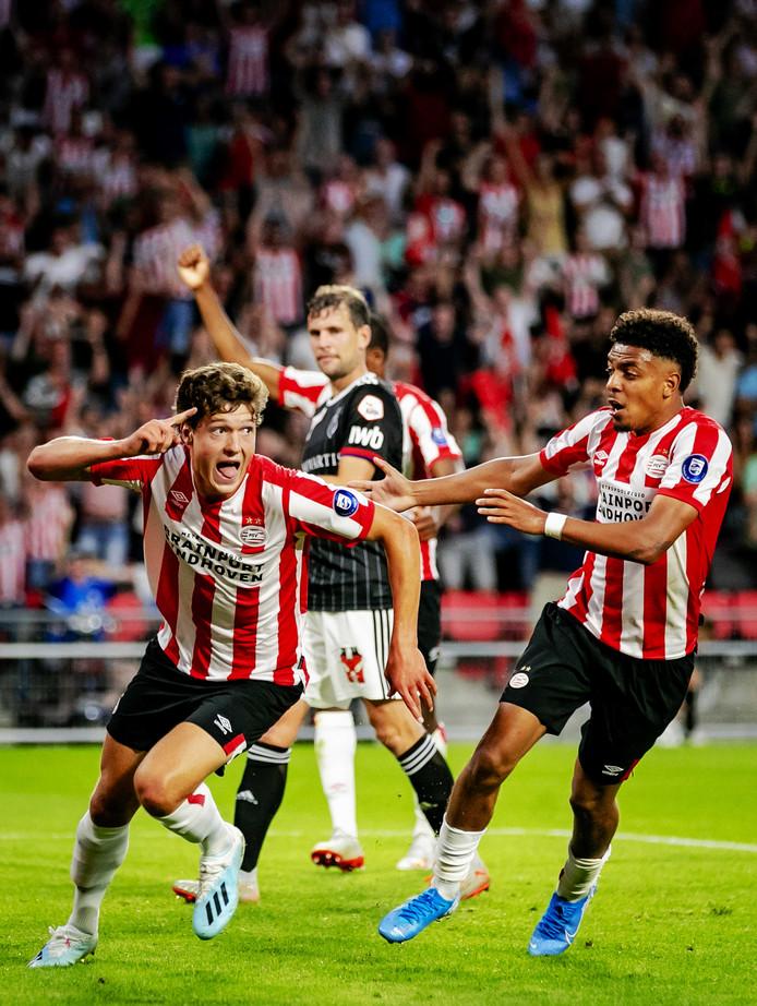 Lammers en Malen waren dinsdagavond de goudhaantjes van PSV.