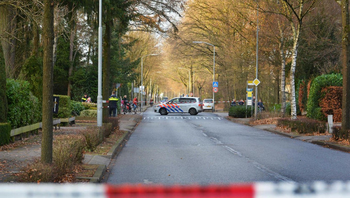 Politieagenten deden vrijdag onderzoek naar de ontvoering aan de Oenenburgweg in Nunspeet.