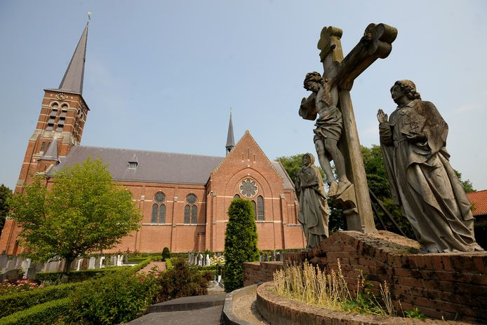 De rooms-katholieke kerk in Kwadendamme.