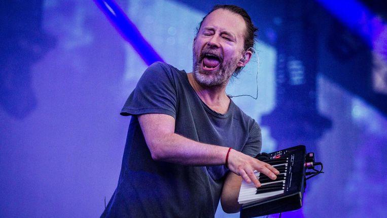 Thom Yorke, zanger van Radiohead. Beeld anp