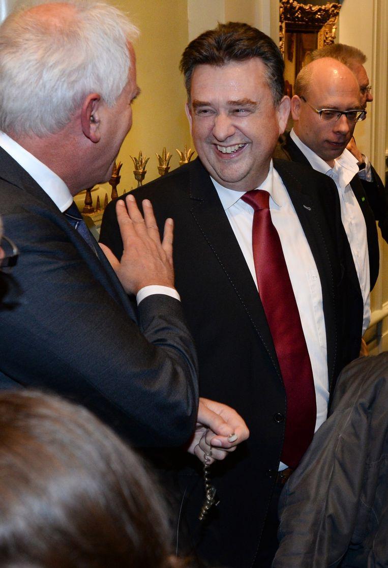 SP-leider Emile Roemer is in gesprek met de pers. Beeld anp