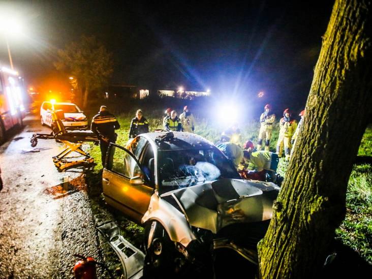 Man zwaargewond na klap met auto tegen boom in Heusden