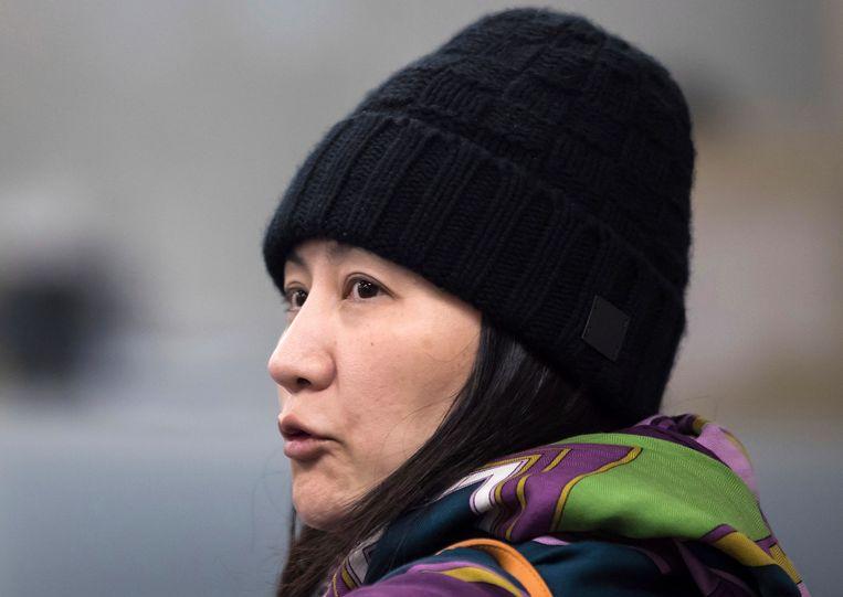 De Chinese topvrouw van Huawei, Meng Wanzhou. Beeld AP