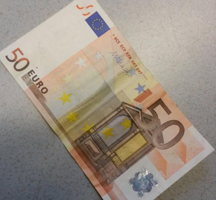 Biljet van 50 euro.