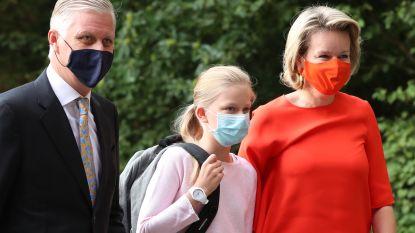 IN BEELD. Koningspaar zet prinses Eléonore af op eerste schooldag