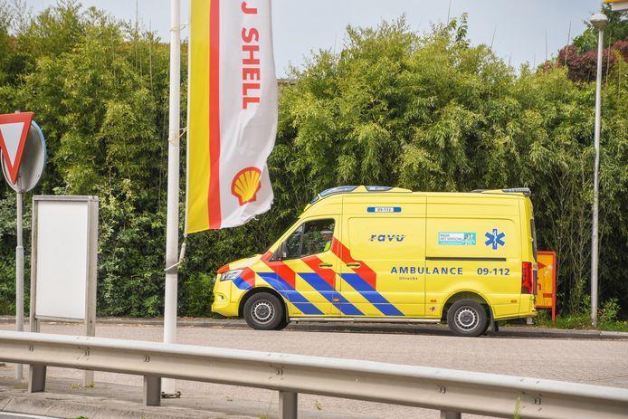 De politie en een ambulance rukten uit voor de 'steekpartij'.