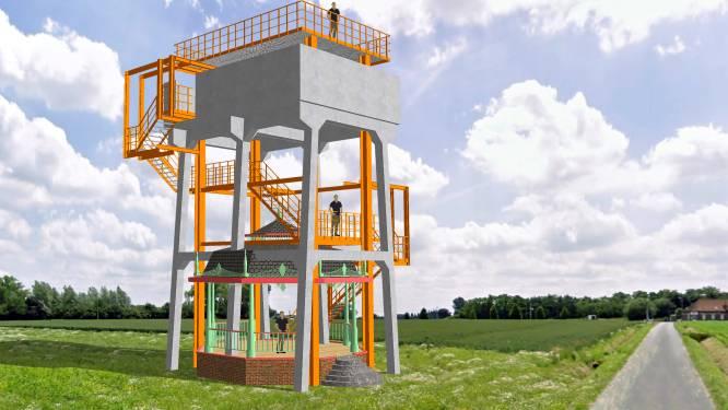 Kunstenaar wil watertoren ombouwen tot uitkijkpunt en kunstinstallatie
