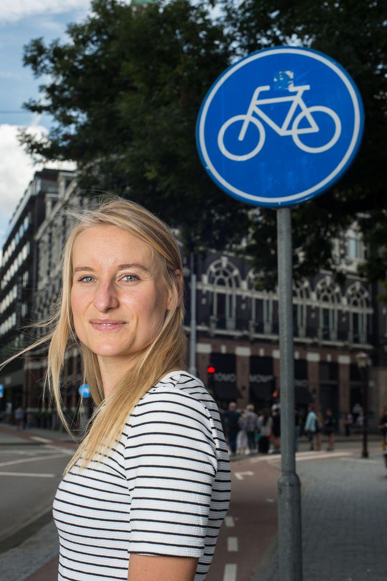 'Gisteren vroeg iemand of ik na al die regenbuien niet iets kan doen aan al die plassen op het fietspad' Beeld Mats van Soolingen