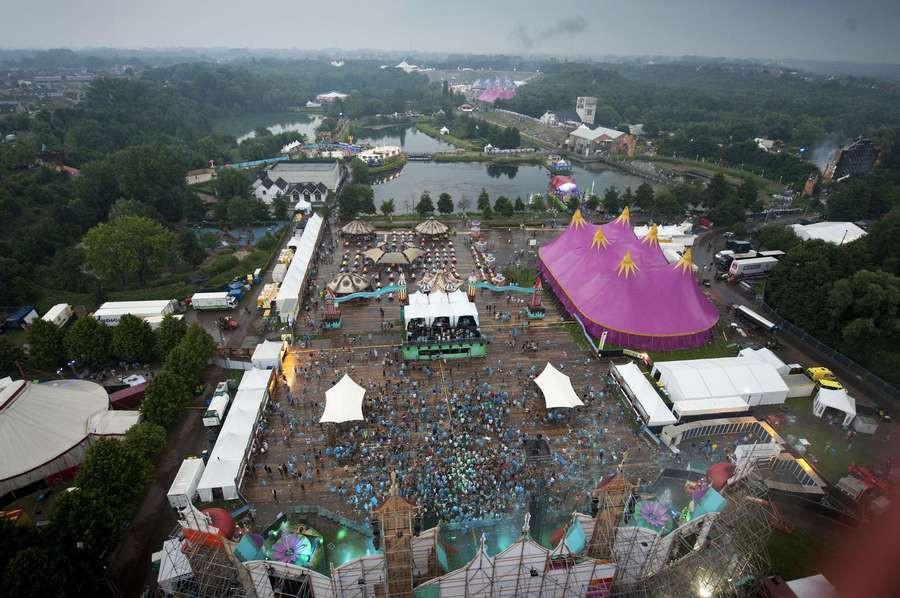 Luchtfoto Tomorrowland 2012